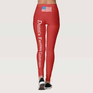 Women's Leggings (American Flag) - Red