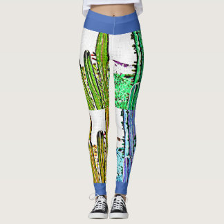 Women's Leggings Art Deco Stove Pipe Cactus