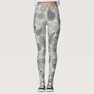 Women's leggings in paisley pattern