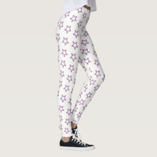 Women's Leggings-July 4th Patriotic Stars Leggings