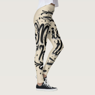 Women's leggings Mafia Hustle cream