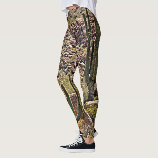 "Women's Leggings of Arizona ""Boulders"" Landscape"