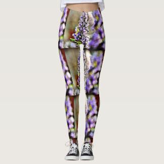 Women's Leggings Purple Flowers