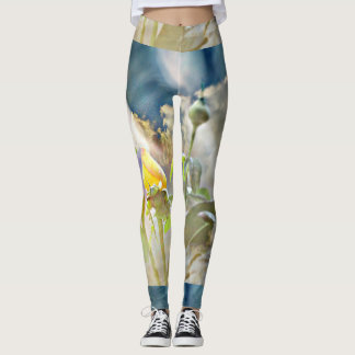 """Women's Leggings """"Yellow Rose in the Clouds"""""""