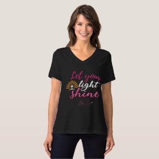 Women's Let Your Light Shine Fit V-Neck T-Shirt