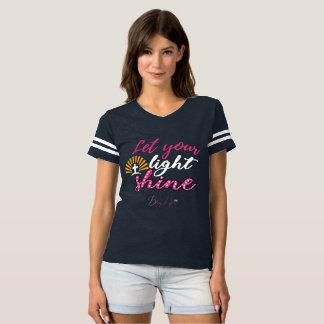 Women's Let Your Light Shine Football T-Shirt