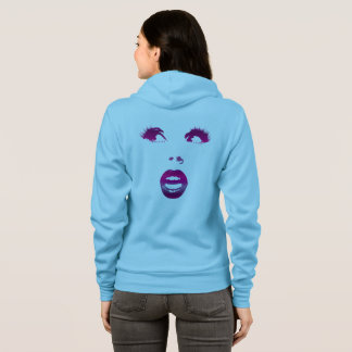 Women's Light Blue Look Back Full-Zip Hoodie