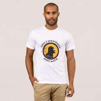 Women's Logos on Mans t-shirt Math Cavewoman