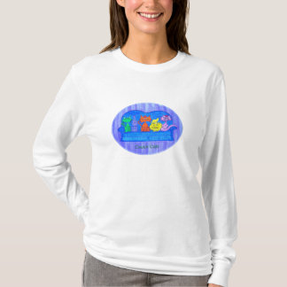 Women's long sleeve tee- Couch Cats T-Shirt