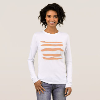 Women's Long-sleeve Tee with Stripes
