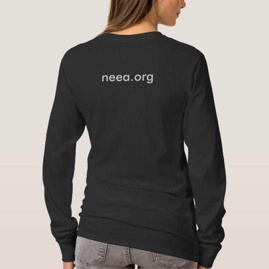 Women's long sleeved tee - black
