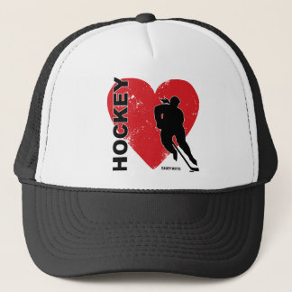 Women's Love Heart Hockey Cap