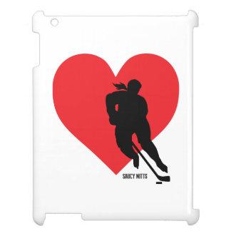 Women's Love Heart Hockey Girls Hockey iPad Cover