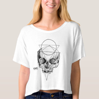 Women's Macabre Skull Crop Top