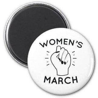 Women's March 2 Inch Round Magnet