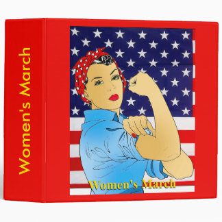 Women's March 3 Ring Binder