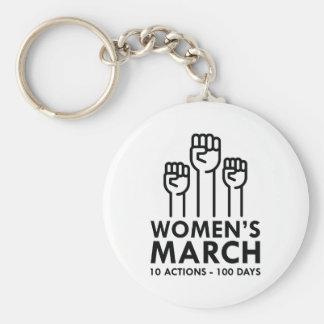 Women's March Basic Round Button Keychain
