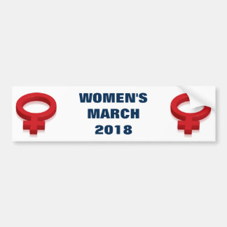 WOMEN'S MARCH BUMPER STICKER