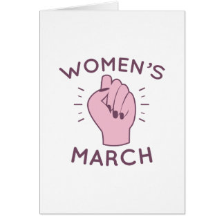 Women's March Card