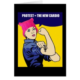 Women's March Cardio Customizable Birthday Card