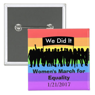 Women's March for Equality Protest Magnet 2 Inch Square Button