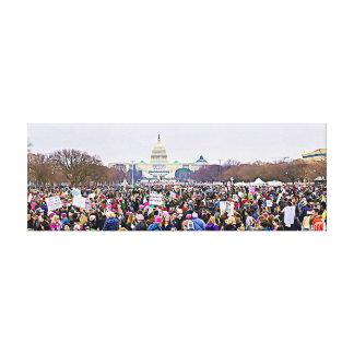 Women's March in Washington DC Anti Trump Canvas