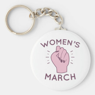 Women's March Keychain