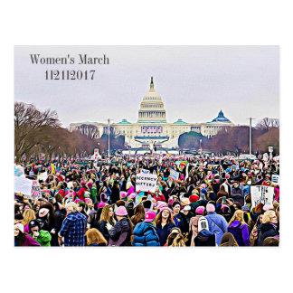 Women's March Memorabilia Postcard