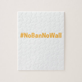 Women's March #NoBanNoWall Jigsaw Puzzle