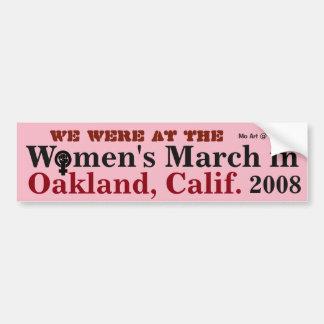 Women's March OAKLAND  2018 - Bumper Sticker