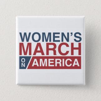 Women's March On America 2 Inch Square Button