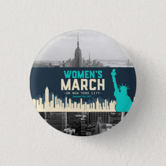 Women's March on NYC 1 Inch Round Button