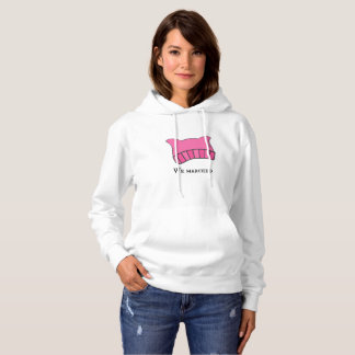Women's March Pink Pussyhat Hooded Sweatshirt