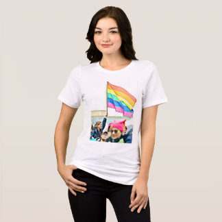 Women's March Protesters LGBT Rainbow Flag T-Shirt