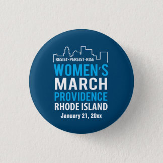Women's March Providence Rhode Island January 1 Inch Round Button