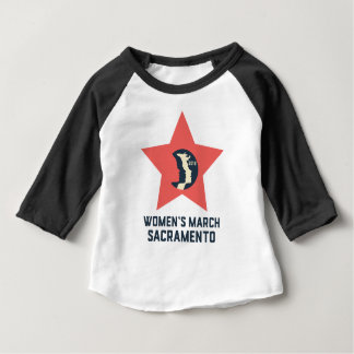 Women's March Sacramento Baby 3/4 Sleeve T-Shirt