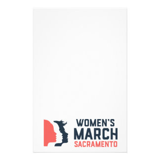 Women's March Sacramento Stationary Stationery