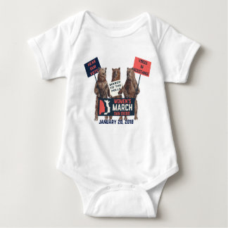 Women's March San Diego Bears Baby Bodysuit
