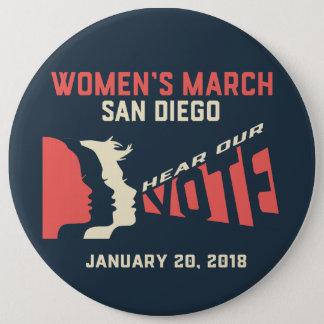 Women's March San Diego Colassal Button