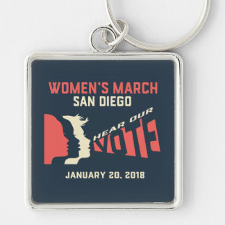 Women's March San Diego Official March Keychain