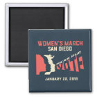 Women's March San Diego Official March Magnet