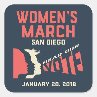 Women's March San Diego Stickers
