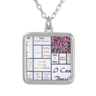Women's March Silver Plated Necklace