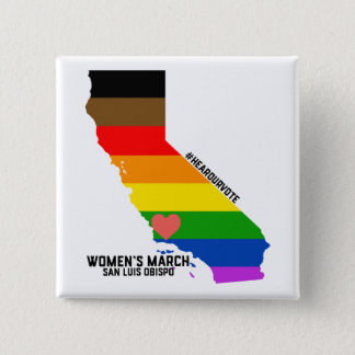 Women's March SLO January Event 2 Inch Square Button