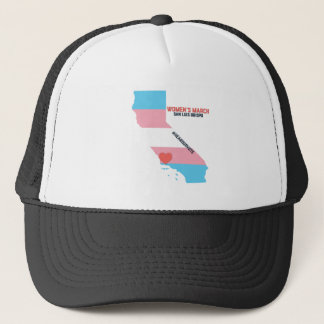 Women's March SLO - Transgender Pride Flag Trucker Hat