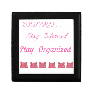 WOMEN'S MARCH STAY INFORMED STAY ORGANIZED GIFT BOX