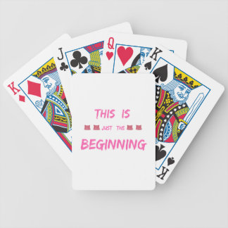 WOMEN'S MARCH  THIS IS JUST THE BEGINNING BICYCLE PLAYING CARDS