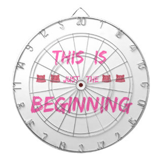 WOMEN'S MARCH  THIS IS JUST THE BEGINNING DARTBOARD