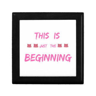 WOMEN'S MARCH  THIS IS JUST THE BEGINNING GIFT BOX