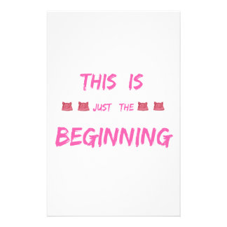 WOMEN'S MARCH  THIS IS JUST THE BEGINNING STATIONERY